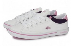 chaussures Lacoste Angha cuir enfant en soldes