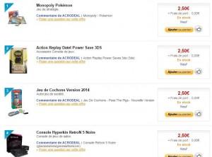 jeux, jouets et jeux vidéo a 2,50 euros