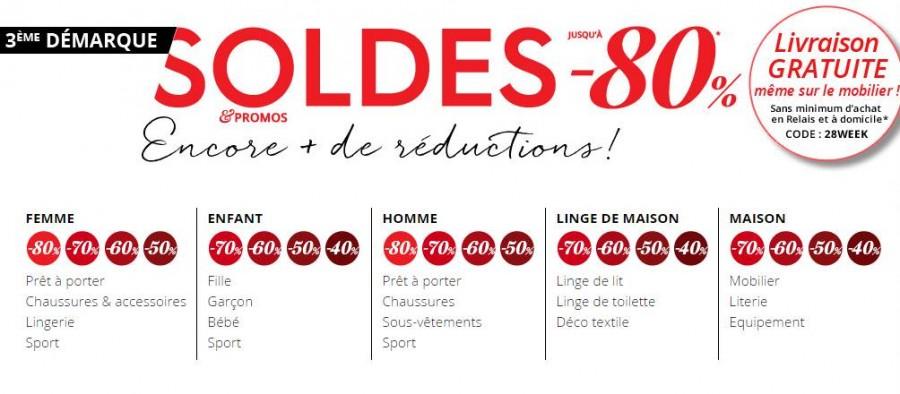 bon plan soldes 3 suisses livraison gratuite sans minimum bons plans bonnes affaires. Black Bedroom Furniture Sets. Home Design Ideas