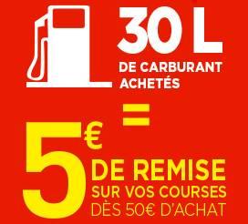 offre carburant Géant