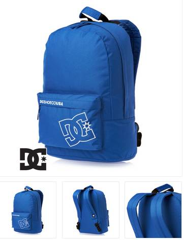 10 79 euros le sac dos quiksilver noir ou dc shoes bleu port inclus. Black Bedroom Furniture Sets. Home Design Ideas