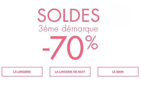 Bon achat orcanta moiti prix 35 les 70 d achat lingerie - Soldes troisieme demarque ...
