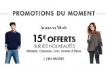 15 euros de remises sur la mode Amazon