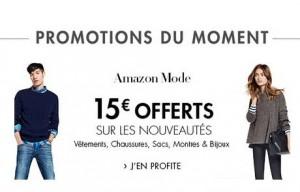 15 euros de remises sur la mode Amazon