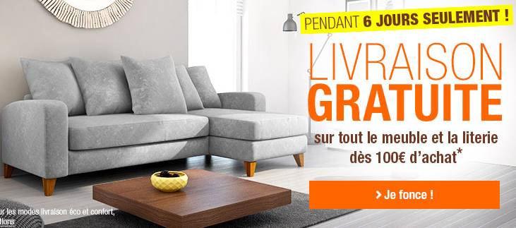 Bon plan auchan propose la livraison gratuite d s 100 for Bon plan meuble