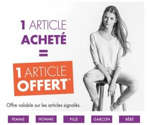 Bon plan Gemo second article gratuit