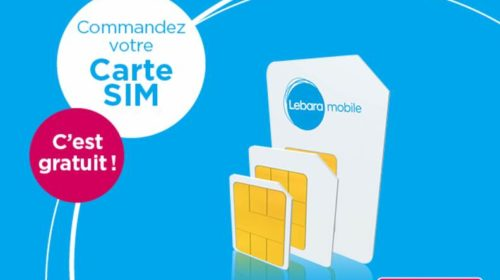 Carte Sim gratuite Lebara mobile