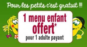 La Pataterie offre 1 menu enfant gratuit