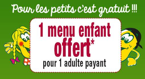 la pataterie offre 1 menu enfant gratuit pour 1 menu adulte achet. Black Bedroom Furniture Sets. Home Design Ideas