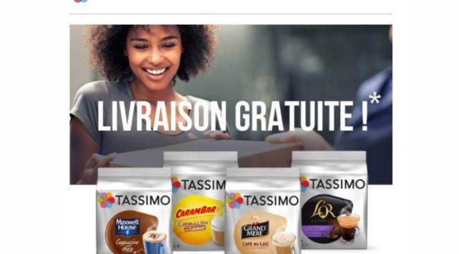 Livraison gratuite sur Tassimo