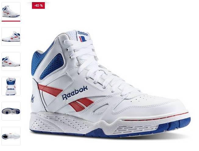 21,60 euros les baskets montantes Reebok Royal adulte port