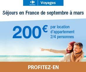 carrefour 2 semaines pour 200 euros
