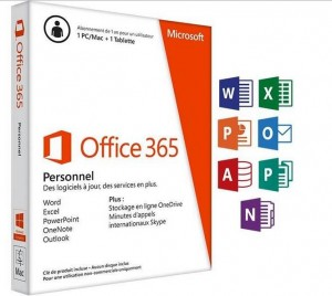 carte d'activation Office 365 Personnel 1an au plus bas prix