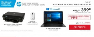 pack PC portable HP – Imprimante et souris HP sur Darty