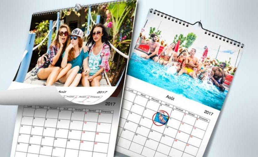 1 euro le calendrier photo A4