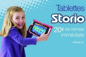 20 euros de remise immédiate sur les tablettes Storio