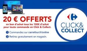 20 euros par tranche de 100 euros Carrefour