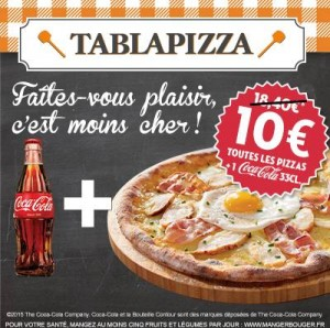 Coupon Tablapizza Pizza et Coca