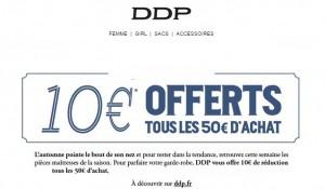 DDP 10 euros offerts