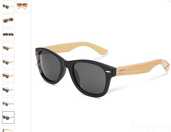 6 31 euros les lunettes de soleil avec branches en bois de. Black Bedroom Furniture Sets. Home Design Ideas