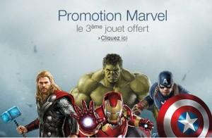 Marvel 2 figurines achetées = 1 gratuite
