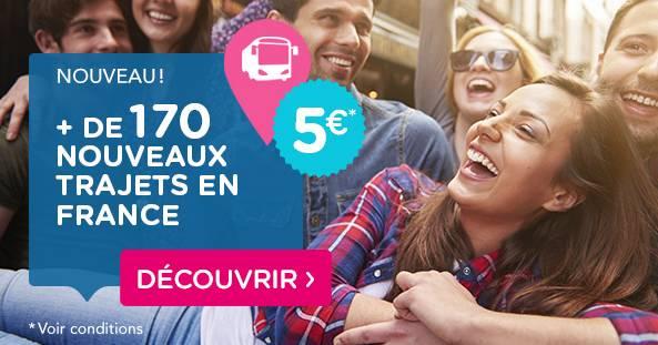 OUIBUS nouvelles lignes 5 euros