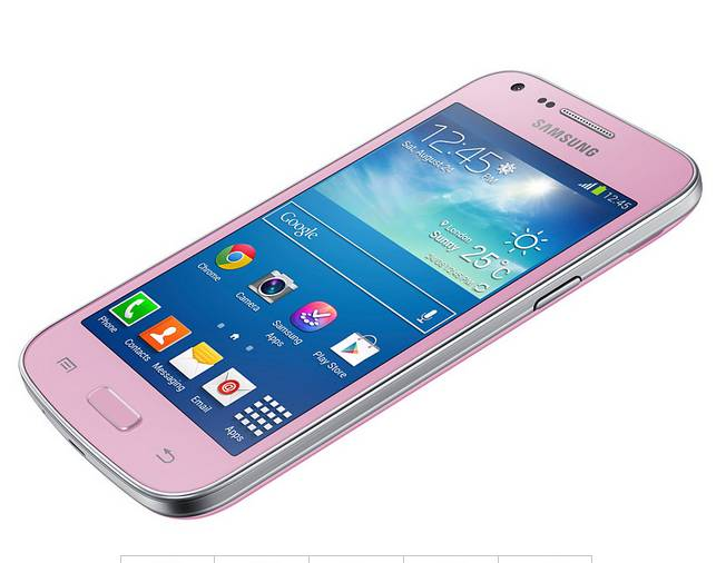 Samsung Galaxy Core Plus Rose gratuit