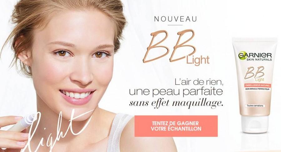 échantillons crème BB Light Garnier
