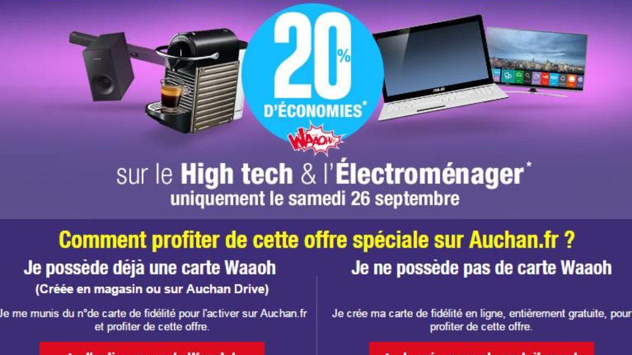 Auchan Carte De Fidelite En Ligne.Bon Plan High Tech Electromenager 20 De Votre Achat Re Credites