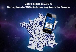 places de cinéma Cinéchèque pas chères