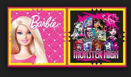 remise sur Barbie et Monster High