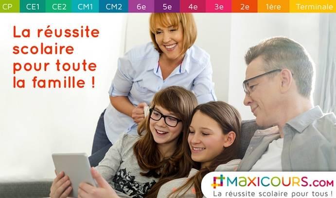 soutien scolaire accès illimité / famille Maxicours