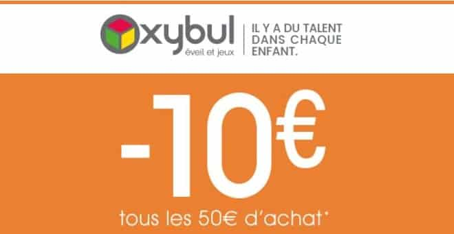 10 euros offerts tous les 50 euros OXYBUL
