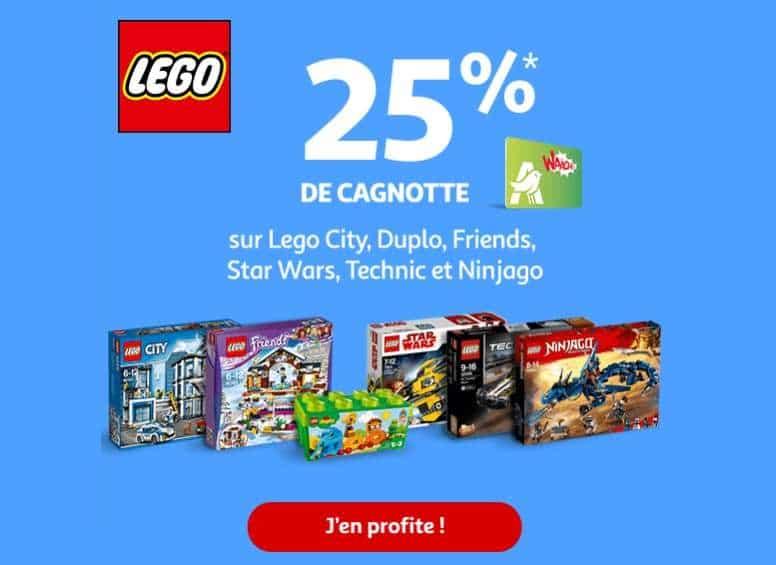 25% crédité sur votre carte Auchan