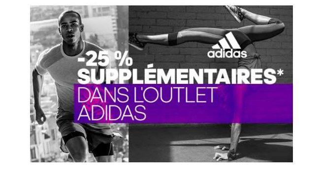 25% de remise sur tout le site Adidas