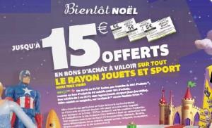 5 euros par tranche de 50 euros d'achats AUCHAN