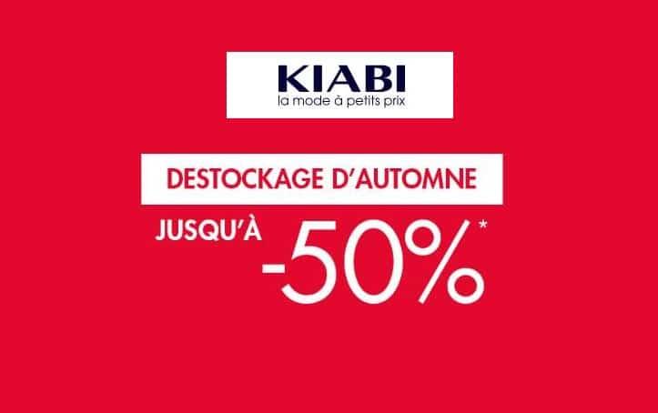 Déstockage Kiabi jusqu'à épuisement des stocks