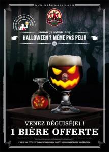 1 bière gratuite Halloween les 3 brasseurs