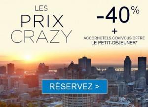 Prix Crazy Accor Hôtels