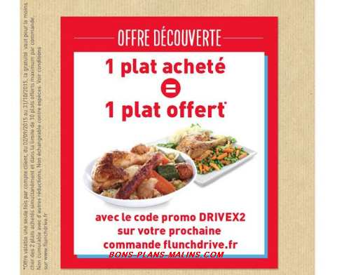 code promo FLUNCH DRIVE