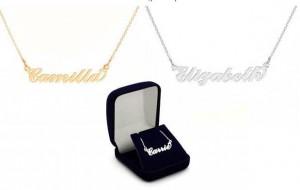 le collier personnalisable Prénom en argent massif ou plaqué or à 17,99 euros