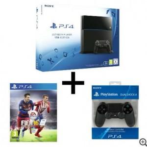 pack PS4 FIFA16 manette dualshock 4 AUCHAN
