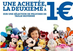 seconde peluche Disney pour 1 euro