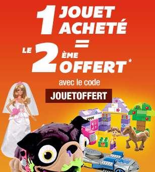 Bon plan auchan 1 jouet achet le 2 me gratuit for Dujardin jouet