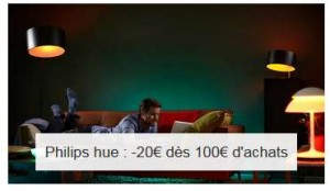 20€ de remise sur Philips Hue (lampe connectée)
