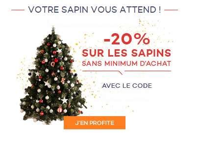 Promo Sapin De Noel Bon plan Sapins de Noël artificiels : 25% suppl. sur tous les