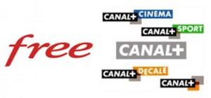 Canal plus les chaines offertes abonnés Free