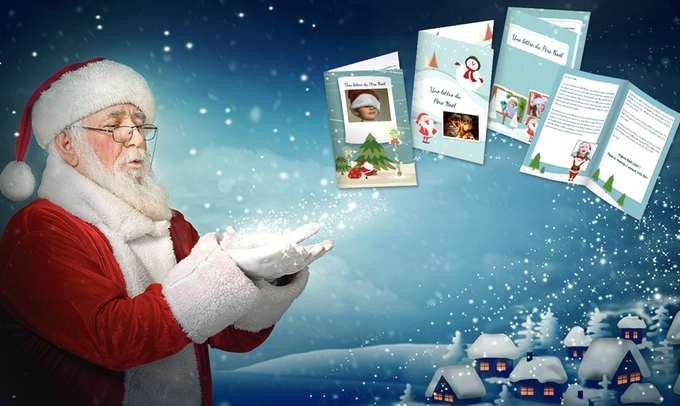 Lettre personnalisée du Père Noël à moitié prix