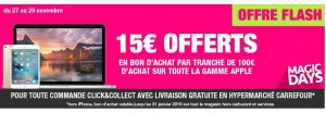 Offre Black Friday Apple Carrefour