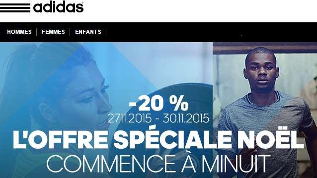 Offre Spéciale Noel Adidas (Black Friday 2015)
